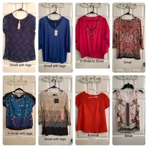 Brand NEW lot of 15 tops